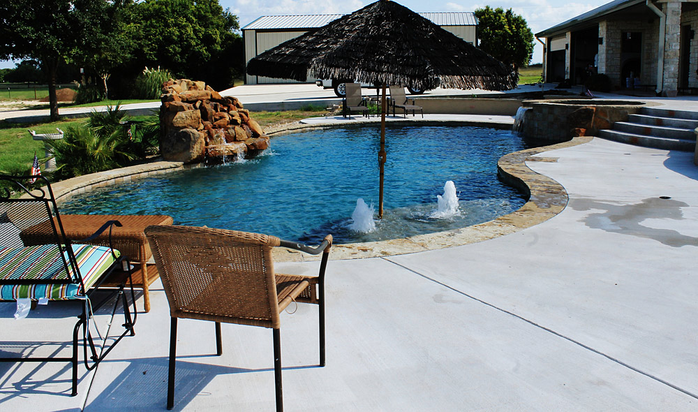 New swimming pool and spa combination gallery trinity - Swimming pool construction san antonio ...